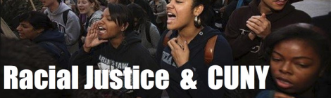 April 3: Forum on Racial Justice and CUNY - 6:00-8:30pm @ PSC-CUNY HQ